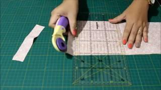 Série Blocos em Patchwork – Como usar placa de corte, régua e cortador circular