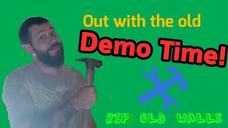 Demo Time!! Gutting the off grid cabin
