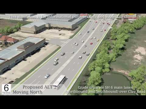 Proposed SH 6 and Clay Road Intersection Animation Video