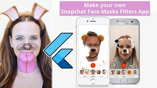 Flutter Android & IOS Snapchat Face Filters Clone App - Augmented Reality AR & AI Augmented Faces
