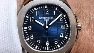 First Look: Patek Philippe Aquanaut Jumbo WG Night Blue Dial Ref 5168