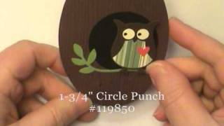 Gate Fold Latch Owl Card W/stampin' Up! Scallop Oval Frame - Dawn O