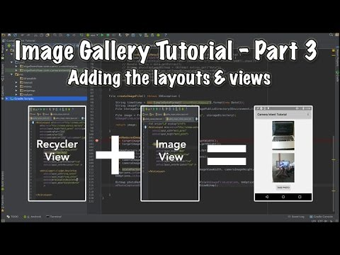 Android image gallery app: using gestures and transition.