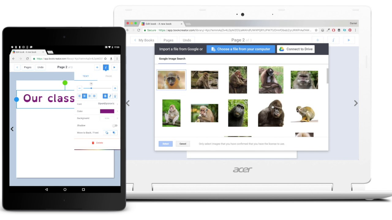 Real-time collaboration comes to Book Creator for Chrome