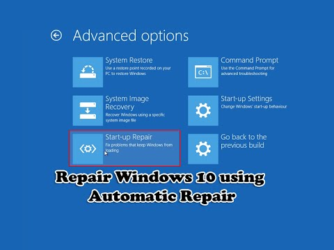Repair Windows 10 using Automatic Repair - YouTube