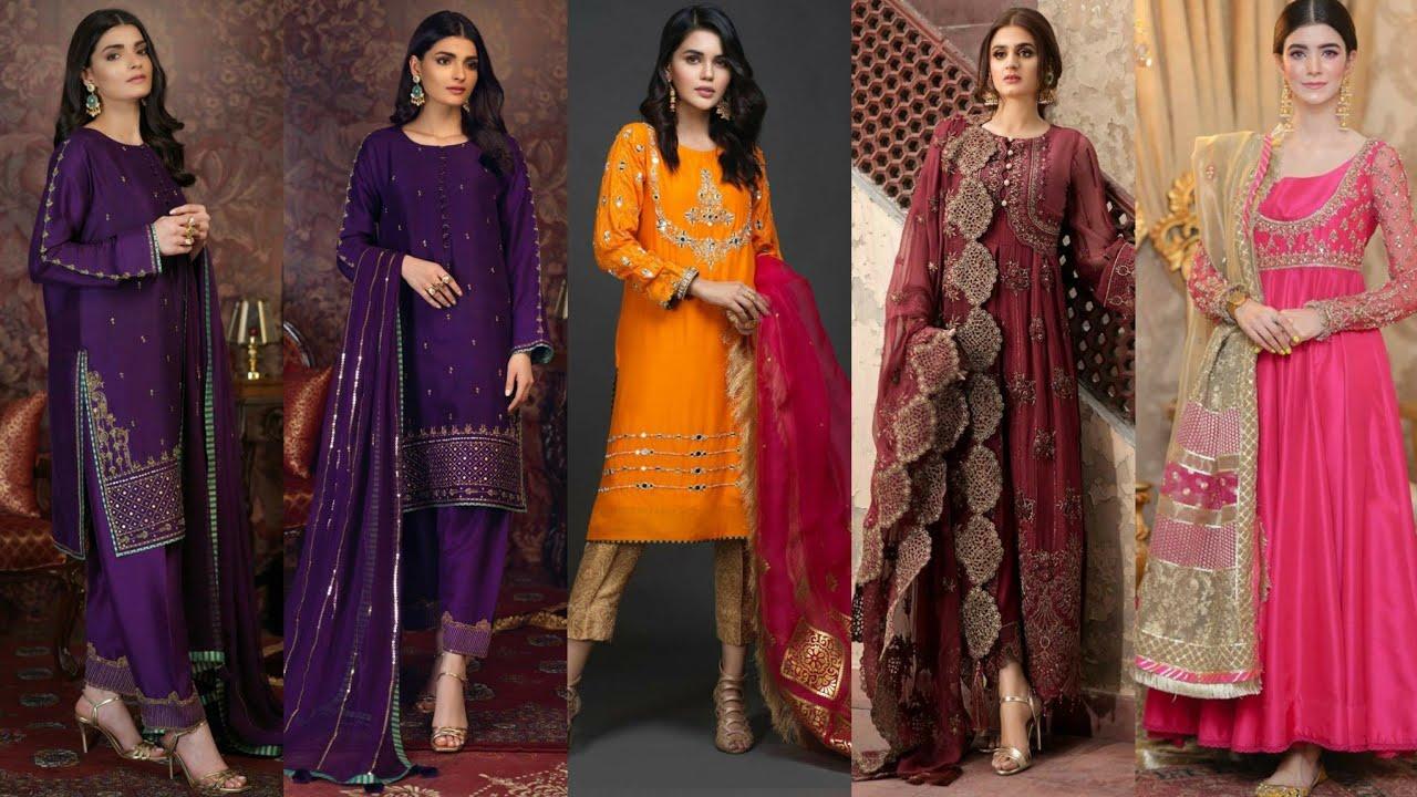 Latest Pakistani 44 party wear dress design luxury formal outfits ideas for Eid