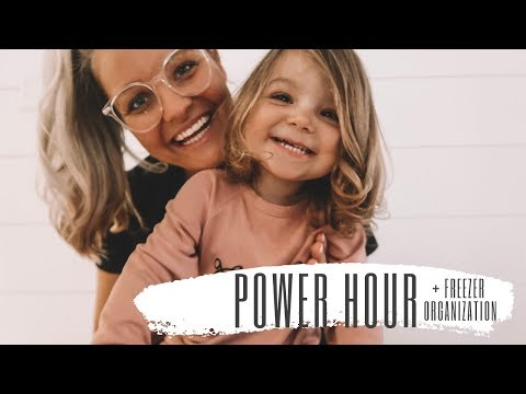 POWER HOUR SPEED CLEAN WITH ME | + FREEZER ORGANIZATION