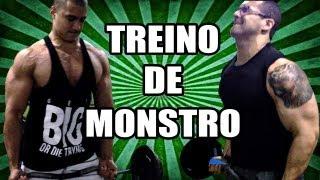 Hipertrofiando - TREINO DE MONSTRO! Tríceps / Bíceps.