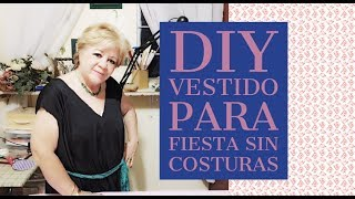 DIY - VESTIDO PARA FIESTA SIN COSTURAS // DIY - COSTUME PARTY DRESS WITHOUT SEWING