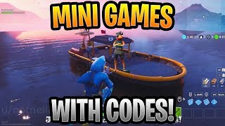 Best Season 8 Mini Games In Fortnite Creative WITH CODES! (Shark Attack, Subway Surfers, Mini Golf)