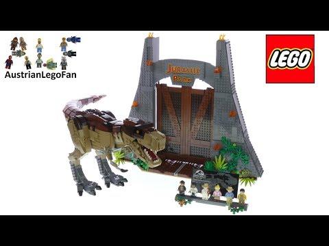 Lego Jurassic World 75936 Jurassic Park: T.  rex Rampage Speed Build