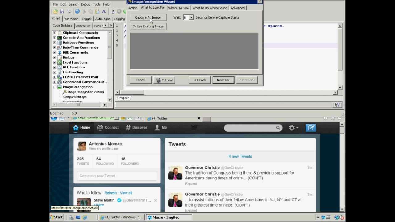Image Recognition Plugin for Macro Scheduler Windows scripting and
