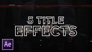 5 سريعة تأثيرات النص في After Effects   البرنامج التعليمي (نص الفيديو, خلل, السكتة الدماغية, سائل)