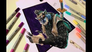 Fortnite Seasne 6 | New skin DIRE par of the FULL MOON set | Fast Drawing