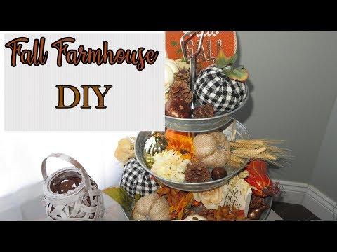 Fall DIY Decor for Farmhouse Three Tiered Tray
