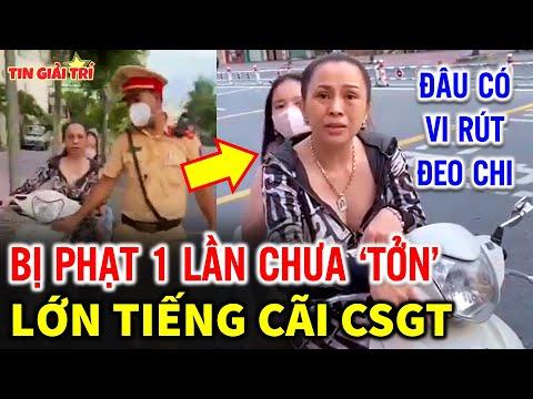 PH.ẪN N.Ộ Người Phụ Nữ chở Con nhỏ không đeo khẩu trang còn trả treo với CSGT