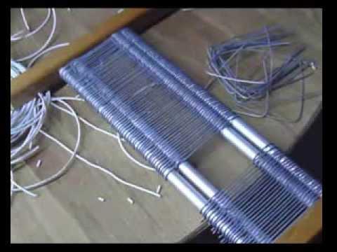 C mo hacer un peine para un telar 2 youtube - Como construir un tejado ...