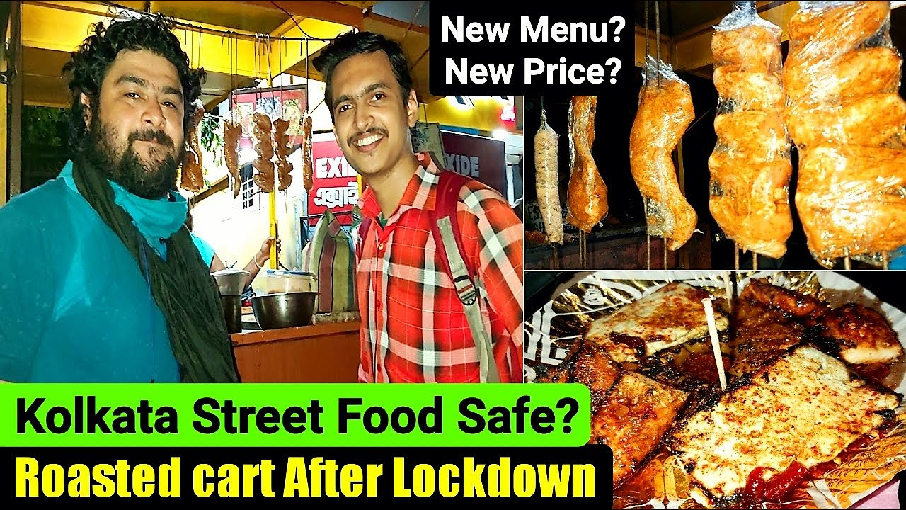 সেরা কাবাব🔥|Kolkata Street Food Safe After Lockdown?|Roasted Cart|Found a SANITIZED Street Food Shop