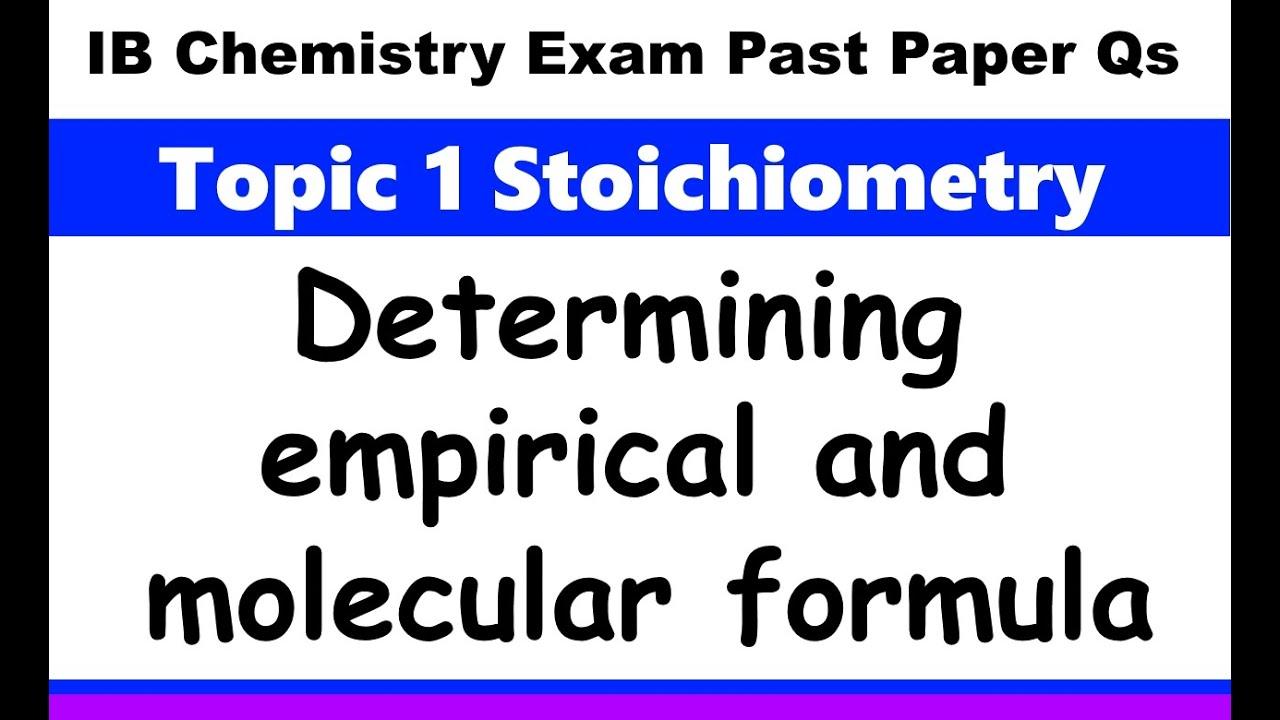 IB Chemistry Topic 1 Stoichiometry - MrWeng's IB Chemistry