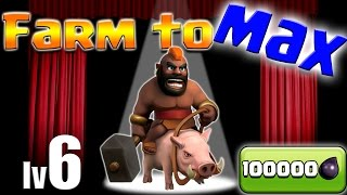 Clash of Clans: TH10 FARM to MAX! Max Hogs + Queenwalk Baby GiVaPeArchWi :D