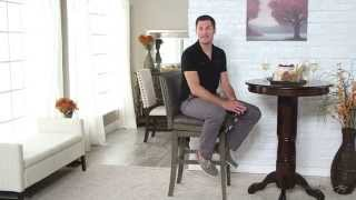 Belham Living Berkley Swivel Leather Bar Stool - Grey - Product Review Video