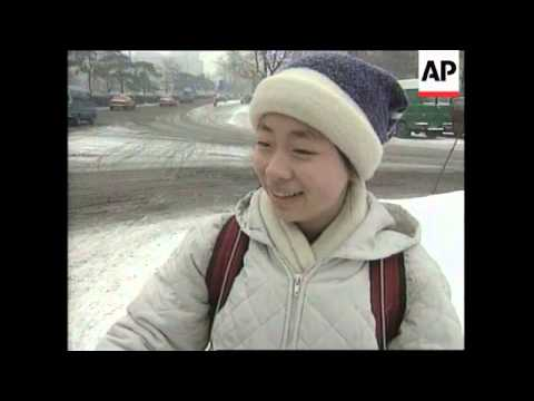 CHINA: BEIJING: HEAVY SNOWFALL