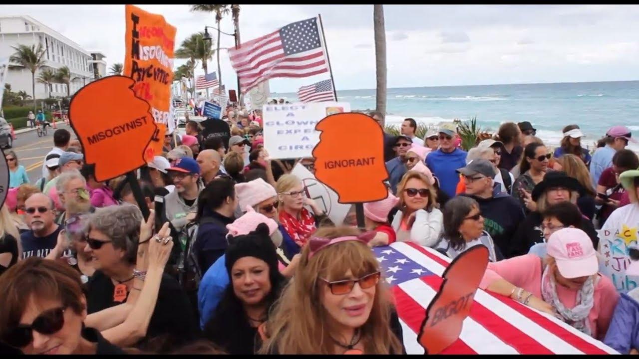 Florida hosts anti-Trump rally on anniversary of inauguration