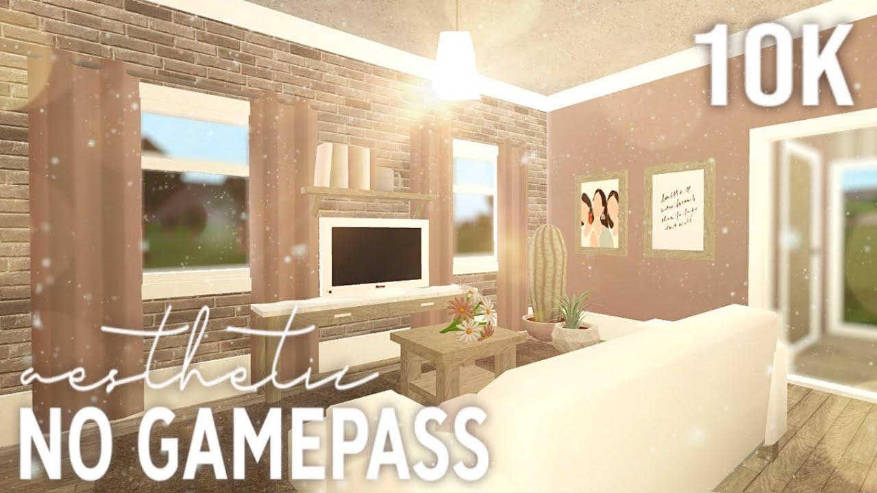 Roblox Bloxburg 10k No Gamepass Aesthetic Home Youtube