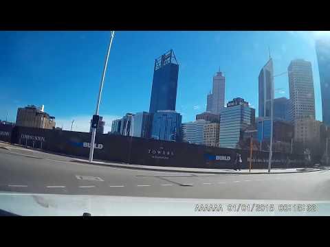 Perth , Western australia , diving through the city
