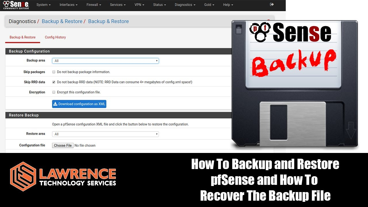 How To Backup and Restore pfSense and How To Recover The Backup File