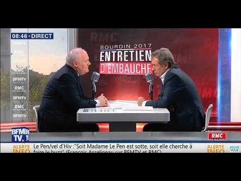 François Asselineau invité de Jean-Jacques Bourdin sur BFMTV et RMC