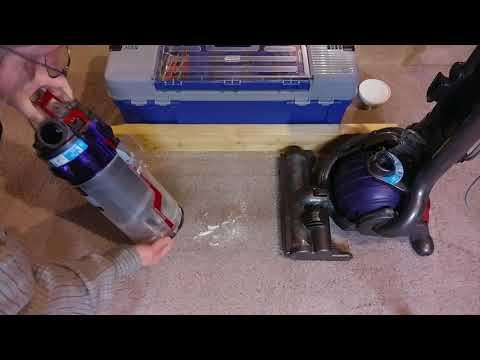Carpet Edge Cleaning Using A Dyson DC25