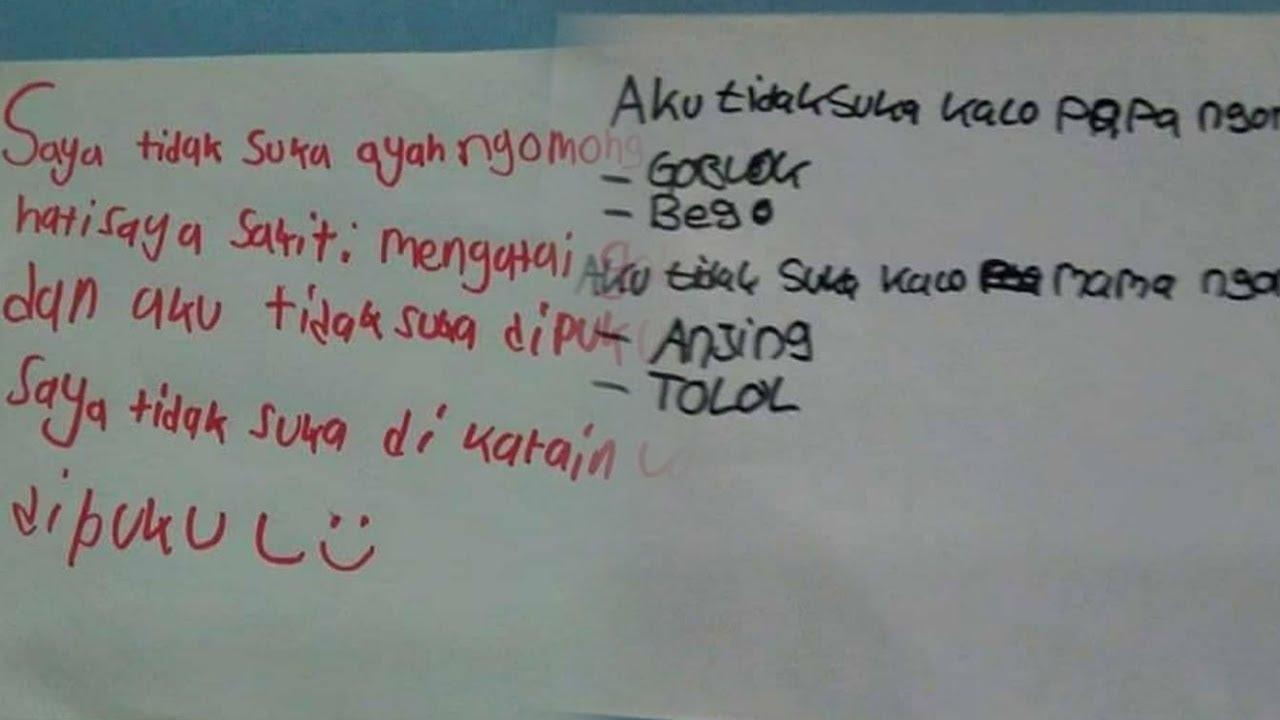 Viral Tulisan Tangan Curhat Anak Kecil Yang Mengeluh Tentang