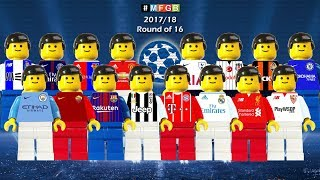 Goals Collections • Round Of 16 Champions League 2018 • Lego Football Film Goals Highlights