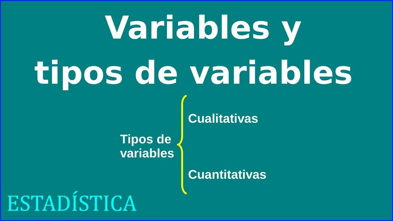 Variables Y Tipos De Variables Estad 237 Stica Youtube