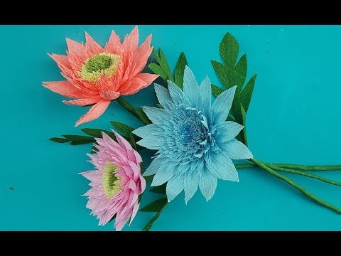 Beautiful Flowers DIY with Paper | Crafts Making Beautiful Flowers | Paper Floras DIY decorations
