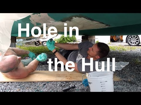 Hole in the Hull - we discovered a crack (Sailing SV Catsawa