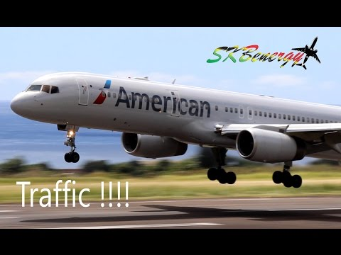 Awesome Traffic !! A319,A320,737,757,777,ATR, Saab...@ St Kitts R.L.B Int'l Airport