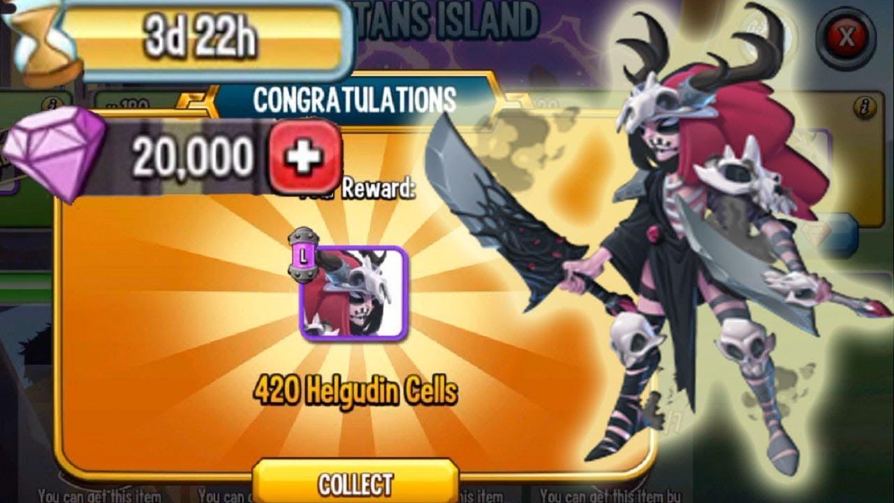 Monster Legends Storm of Titans Helgudin island review rank5 cost