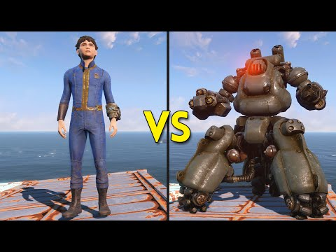 Fallout 4 - 200 Kids VS 25 Sentry Bots - Battles #3
