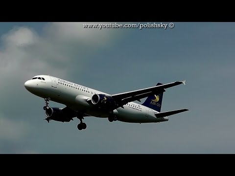 Airgo Airlines Egypt Airbus A320231 Reg: SUGCL Landing at Katowice Airport EPKT  KTW