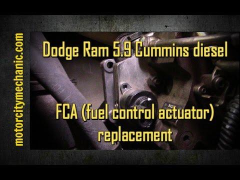 Dodge Ram 59 Cummins diesel FCA (fuel control actuator) replacement