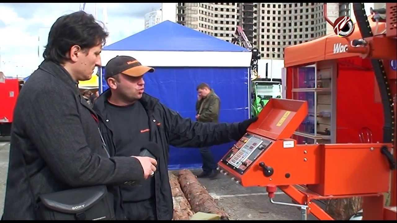 Дисковая пилорама углового пиления ДПУ 500 / 600 - YouTube