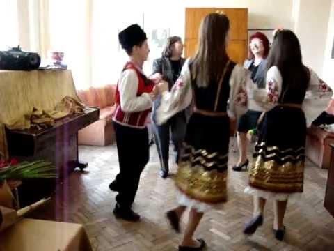 Folk dancing in a school in Novi Pazar, Bulgaria