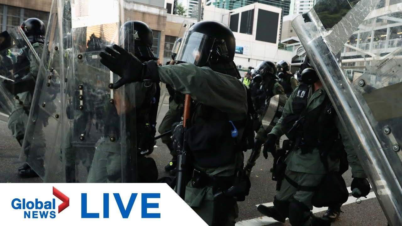 Hong Kong protests: Police return to the streets after clashes with protesters | LIVE