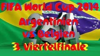 FIFA World Cup 2014 - 3. Viertelfinale - Argentinien vs Belgien