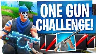 1 Gun Challenge! - HARDEST Challenge in Fortnite