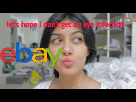 Dumb Girl Trys On 3$ Dollar Contacts From Ebay
