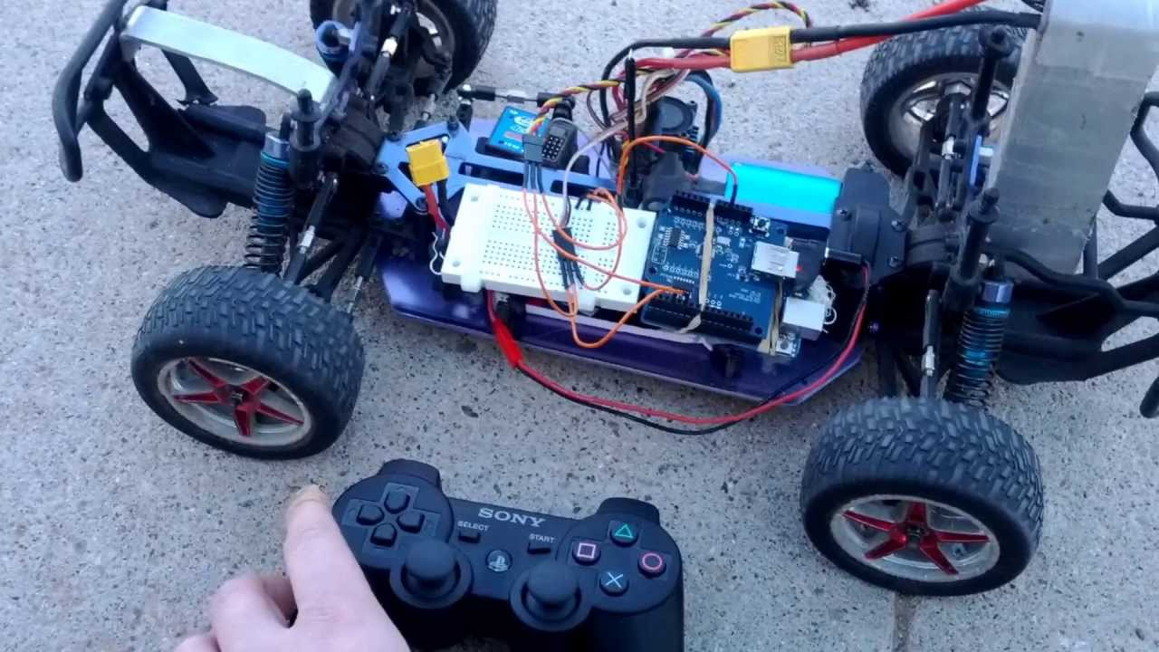 Control an rc car with a ps controller arduino uno usb