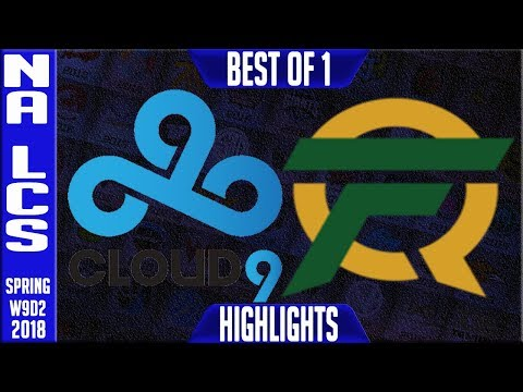 C9 vs FLY Highlights | NA LCS Week 9 Spring 2018 W9D2 | Cloud 9 vs FlyQuest Highlights
